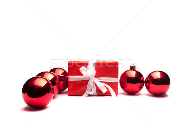 Present and christmas balls Stock photo © alexandrenunes