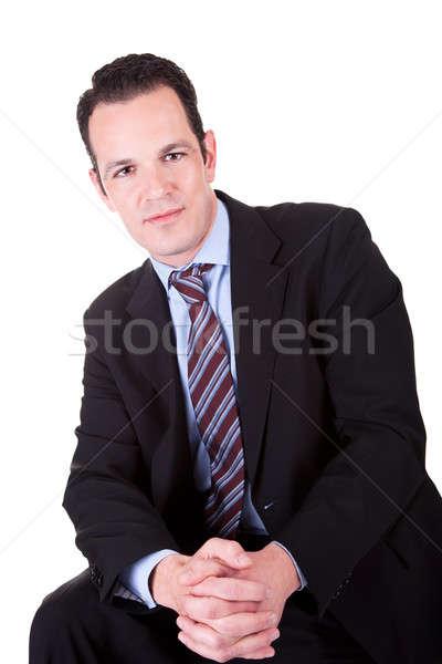 Jovem homem de negócios retrato isolado branco Foto stock © alexandrenunes