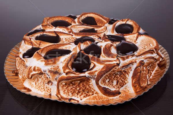 Bolo chocolate isolado preto comida branco Foto stock © alexandrenunes