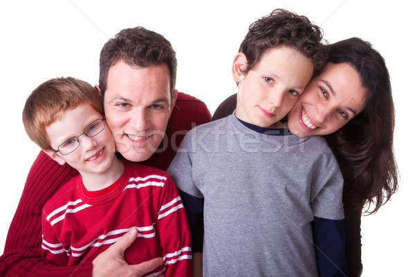 Família feliz foto isolado branco família sorrir Foto stock © alexandrenunes