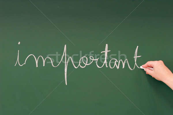 Important written on a blackboard Stock photo © alexandrenunes