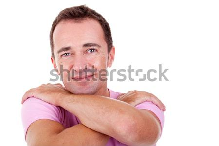 Portrait of a handsome middle-age man, with arms crossed Stock photo © alexandrenunes