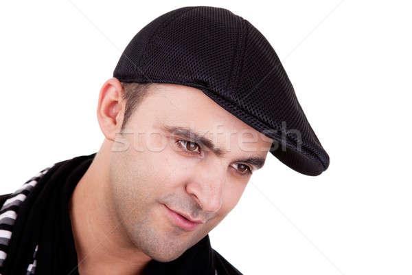 Retrato homem sorridente preto seis isolado Foto stock © alexandrenunes