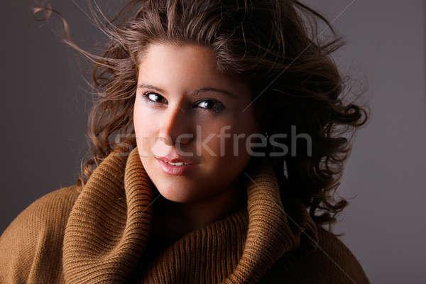美人 髪 風 女性 ボディ ストックフォト © alexandrenunes