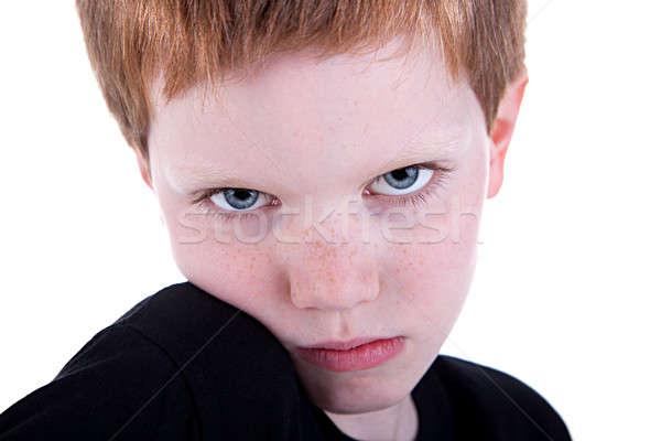 Bonitinho menino triste veja isolado Foto stock © alexandrenunes