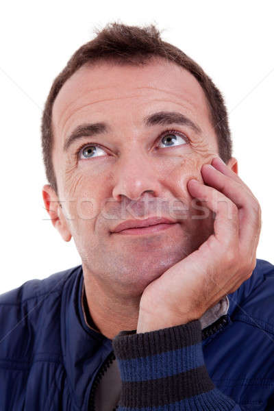 Portrait of a middle-age man looking up Stock photo © alexandrenunes
