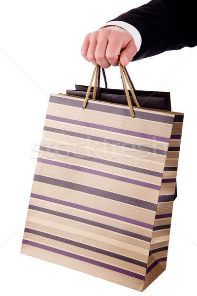 detail of a hand of a man doing shopping,with bags  Stock photo © alexandrenunes