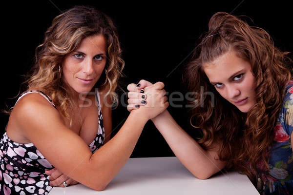mother and daughter wrestling Stock photo © alexandrenunes