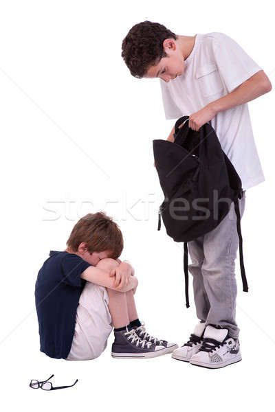 children suffering from bullying by a teen, Stock photo © alexandrenunes