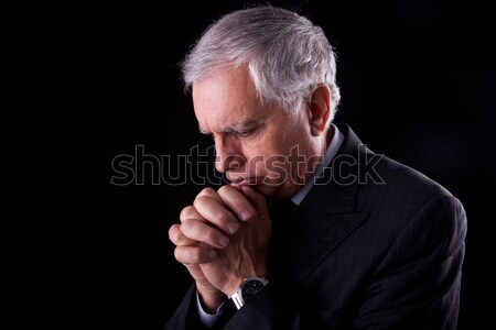 Retrato bonito maduro empresário pensando oração Foto stock © alexandrenunes