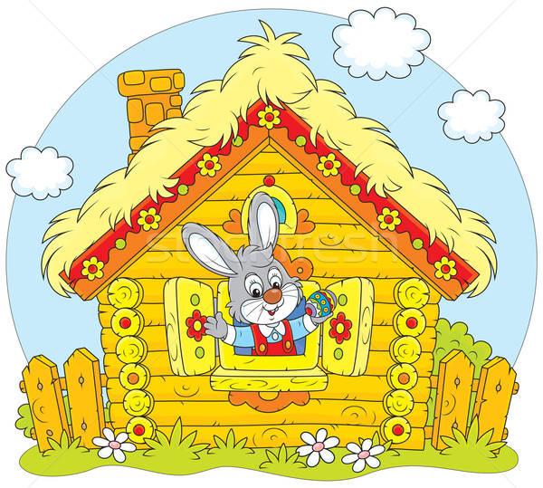 イースターバニー ウサギ 見える 外に ウィンドウ ストックフォト © AlexBannykh