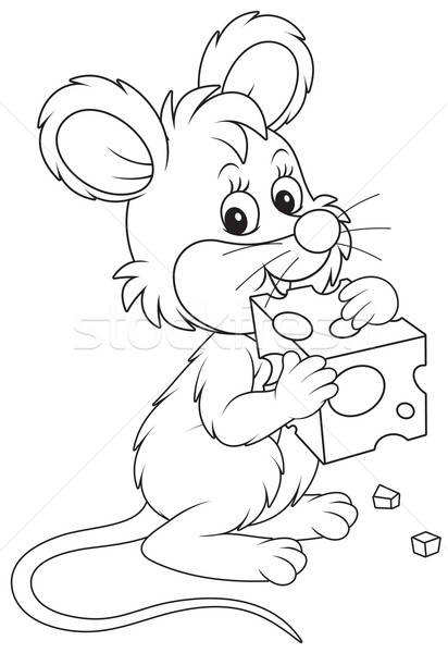 Mouse and cheese Stock photo © AlexBannykh