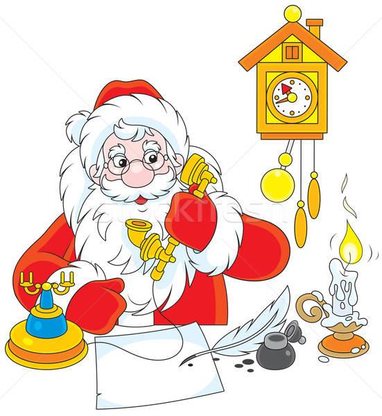 Santa Claus calling on the phone Stock photo © AlexBannykh