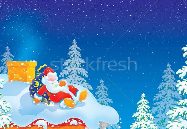 Santa Claus sleeping Stock photo © AlexBannykh