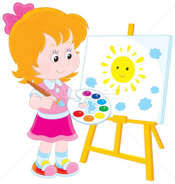 Клипарт как дети рисуют