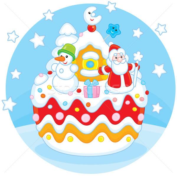 Christmas cake Stock photo © AlexBannykh