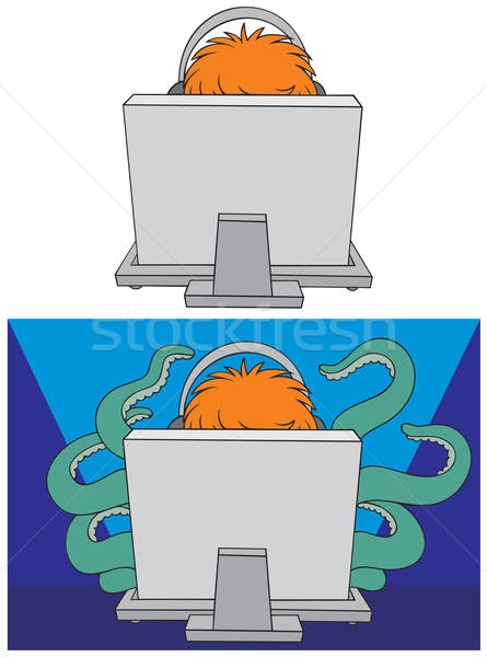 Computer gamer Stock photo © AlexBannykh