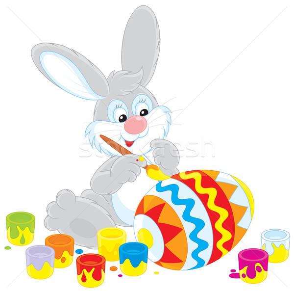 Easter Bunny painter Stock photo © AlexBannykh