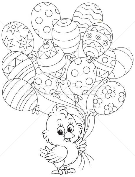 Wielkanoc chick balony mały odznaczony jak Zdjęcia stock © AlexBannykh