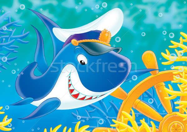 Shark Captain Stock photo © AlexBannykh