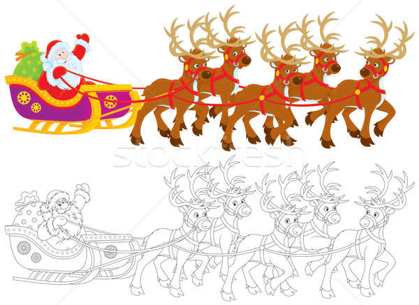 Sleigh of Santa Claus Stock photo © AlexBannykh