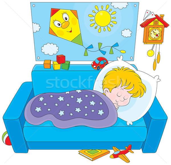 Child sleeping Stock photo © AlexBannykh