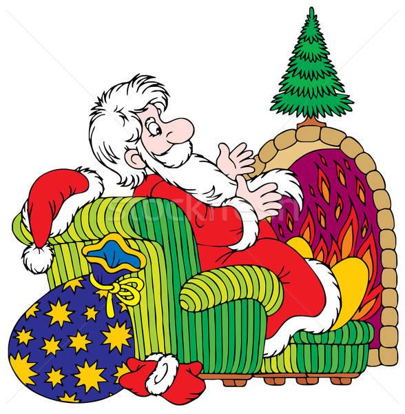 Kerstman vector clipart speelgoed vakantie Stockfoto © AlexBannykh