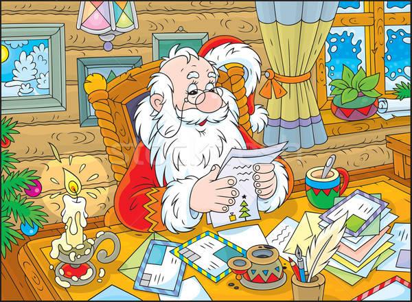 Santa Claus reads letters Stock photo © AlexBannykh