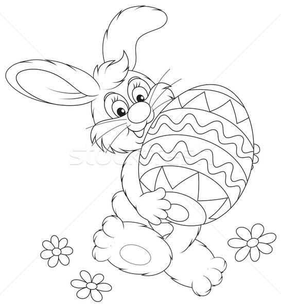 Easter Bunny grappig konijn vriendelijk glimlachend Stockfoto © AlexBannykh