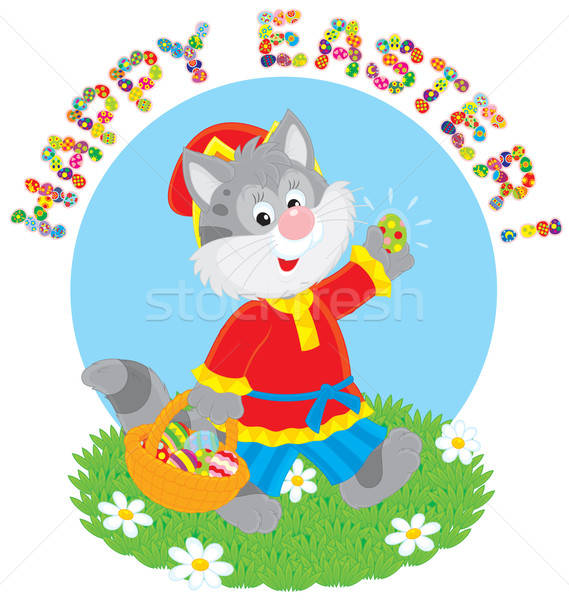 Happy Easter Stock photo © AlexBannykh