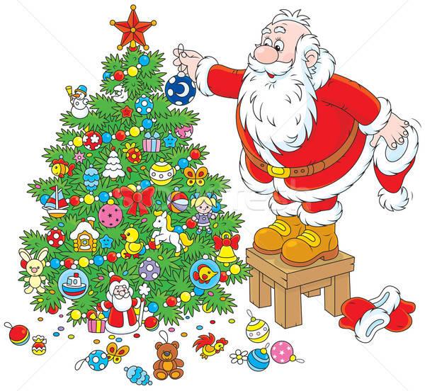 Papai Noel árvore De Natal Pai Natal Férias