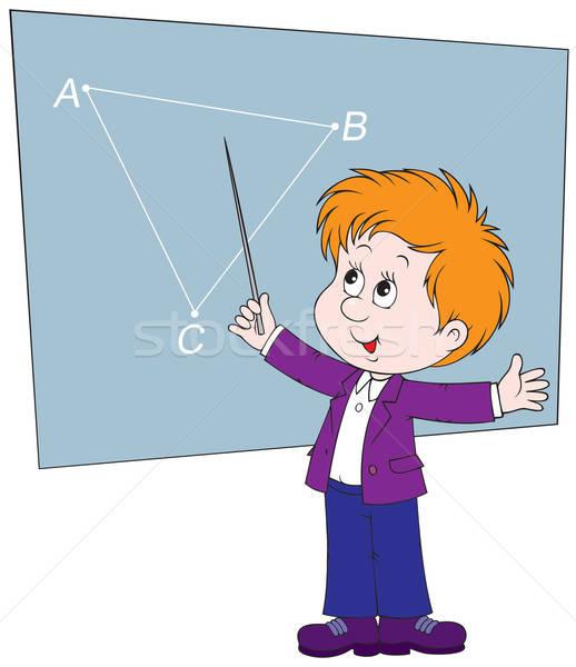 испытание школьник доске класс геометрия детей Сток-фото © AlexBannykh
