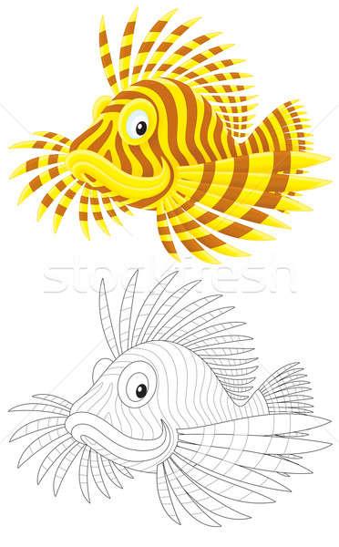 Scorpion poissons illustration jaune brun Photo stock © AlexBannykh