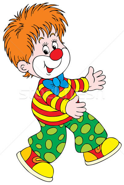 Clown vector clipart grappig circus kinderen Stockfoto © AlexBannykh