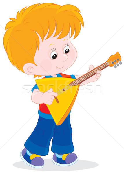 мало игрок мальчика играет музыку Kid Сток-фото © AlexBannykh