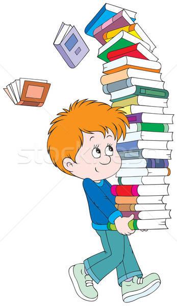 Estudante livros livros didáticos crianças escolas Foto stock © AlexBannykh