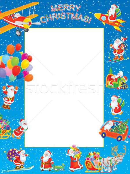 Christmas border Stock photo © AlexBannykh