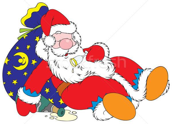 Tipsy Santa Claus Stock photo © AlexBannykh