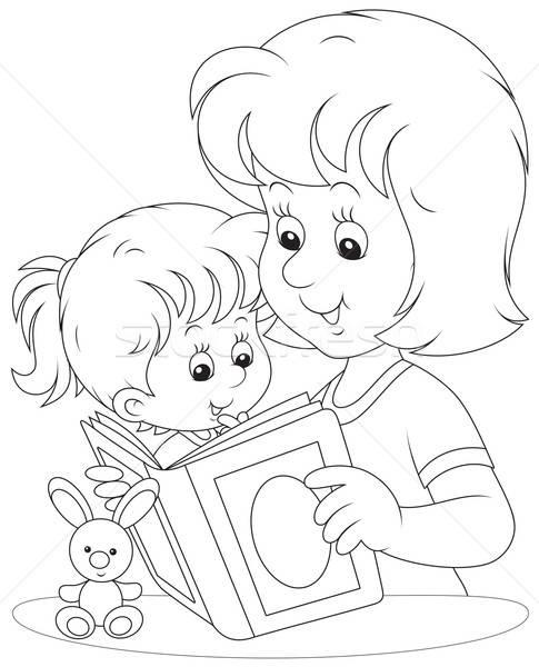 Раскраска мама и малыш - 1