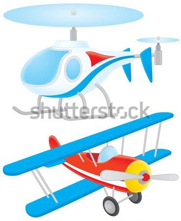 Santa Claus flies in his airplane Stock photo © AlexBannykh