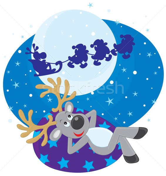 Dream of Reindeer Stock photo © AlexBannykh