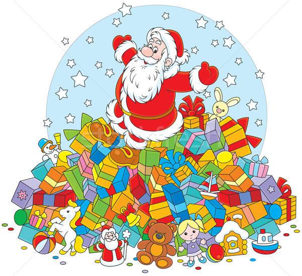 Santa Claus with gifts Stock photo © AlexBannykh