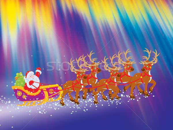 Sleigh of Santa Claus Stock photo © AlexBannykh