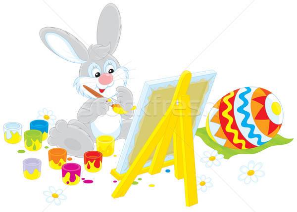 Stock photo: Easter Bunny artist