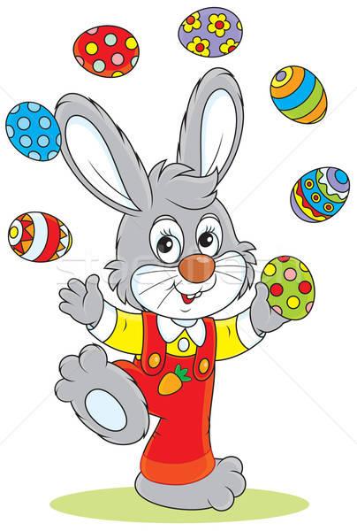 Easter Bunny juggler Stock photo © AlexBannykh