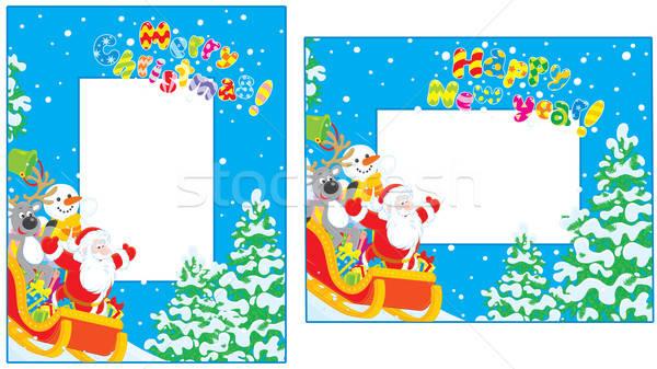 Christmas and New Year borders Stock photo © AlexBannykh