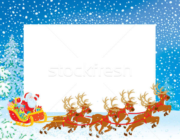 Stok fotoğraf: Sınır · noel · baba · Noel · sürücü · arka · plan