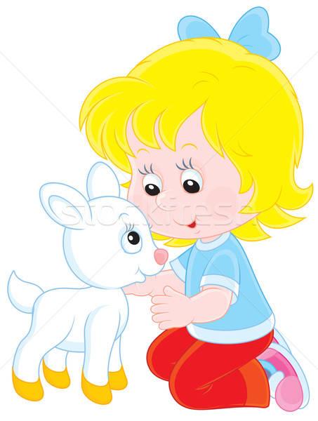 Menina branco criança little girl pequeno bebê Foto stock © AlexBannykh