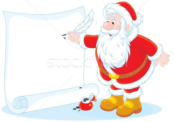 Santa Claus writing Stock photo © AlexBannykh