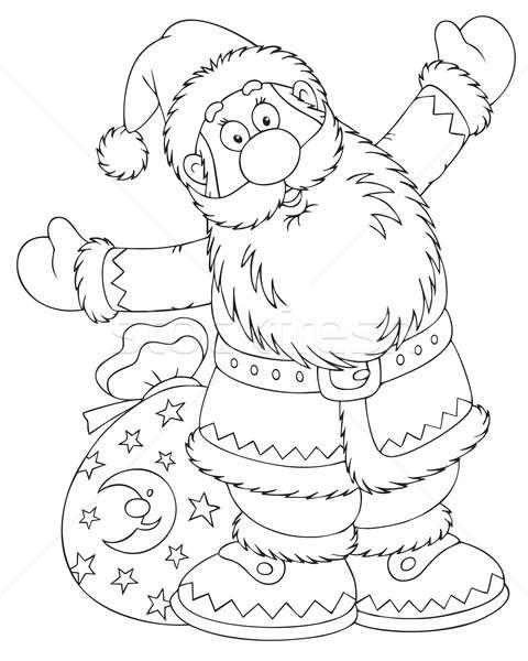 Santa Claus with a toy sack Stock photo © AlexBannykh